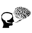 Brain speech bubbles vector image vector image