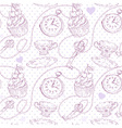 Romantic love vintage pattern vector image