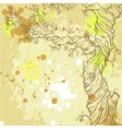 Summer or spring grunge background with tree vector image vector image