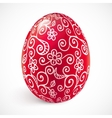 Red ornate easter egg vector image vector image