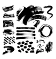 set of 42 black ink hand drawing brushes vector image