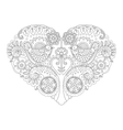 Heart design coloring book vector image