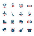 hockey icon set vector image