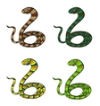 Snakes set vector image