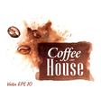 Set Watercolor Coffee Badges 1 vector image