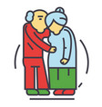 senior couple old people pensionary concept vector image