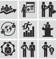 Human resources icons vector image
