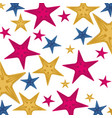 background with pattern of starfish vector image