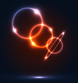 Colorful round bubbles with light effects abstract vector image