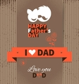 Happy Fathers Day vintage retro card vector image