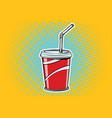 paper cup fast food beverage vector image