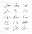 Signature fictitious Autograph vector image