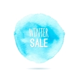 Winter sale background watercolor vector image