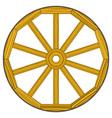 Wooden wheel vector image