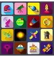 Space items icons set flat style vector image vector image