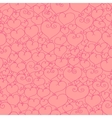 Stylized hearts seamless vector image