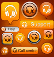 Support high-detailed modern buttons vector image