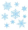 snowflakes sketch vector image