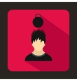 Man with the weight over head icon vector image