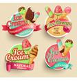Ice cream emblems vector image