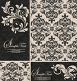 elegant damask invitation card vector image vector image