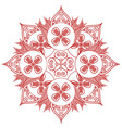 Asian culture inspired feng shui floral shape vector image