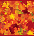 autumn texture floral maple leaves fall seamless vector image