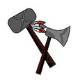 axe and tomahawk native american indian weapon vector image