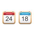 Calendar 2013 icon vector image
