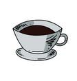 coffee cup cartoon hand drawn image vector image