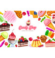 confectionery and sweets vector image