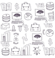 Doodle of object business theme vector image