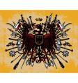 Heraldic eagles vector image