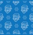 minimalistic christmas blue pattern vector image