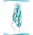 Sea Girl vector image