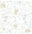 Seamless pattern scatch of spring sakura vector image