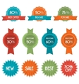 set of eleven discount badges and labels vector image