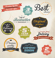 stickers and ribbons vector image