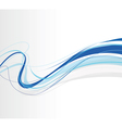 swirling lines blue vector image
