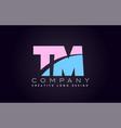 Tm alphabet letter join joined letter logo design vector image