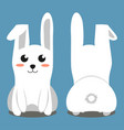 white sitting rabbit colorful poster vector image