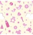 Baby girl seamless vector image