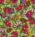 summer flowers seamless vector image