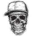 Sketchy Skull with Cap and Bandanna vector image vector image