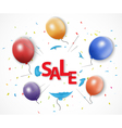 Shocked sale concept with burst balloon vector image