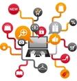 internet shopping vector image