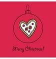 Ball with Christmas heart vector image