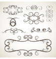Calligrephic elements vector image