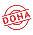 Doha rubber stamp vector image