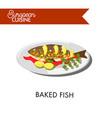 european cuisine food menu dish template vector image